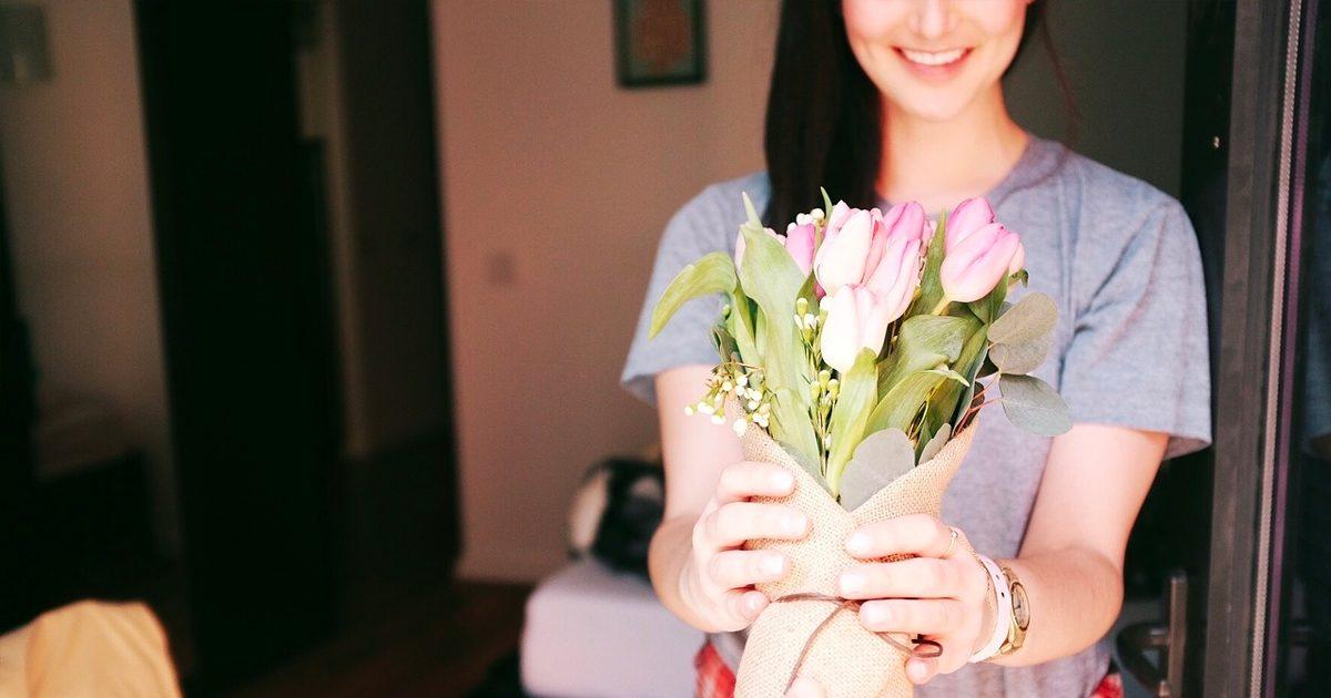 Bloemen cadeau etentje