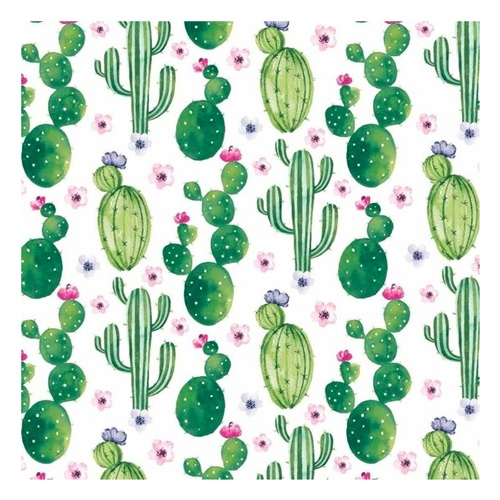 Servetten met cactus print