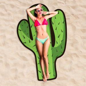 Cactus-strandlaken voor cactusliefhebber