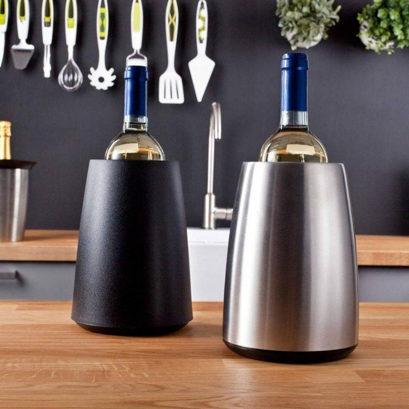 Zilver gekleurde wijnkoeler